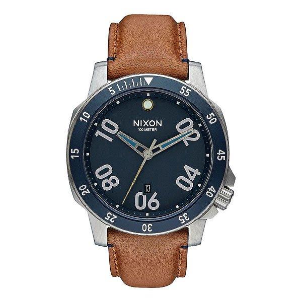 Кварцевые часы Nixon Ranger Leather Navy Saddle