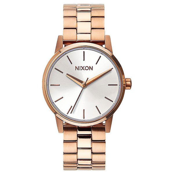 Кварцевые часы Nixon Small Kensington Rose Gold White часы женские nixon kensington all white gold o s
