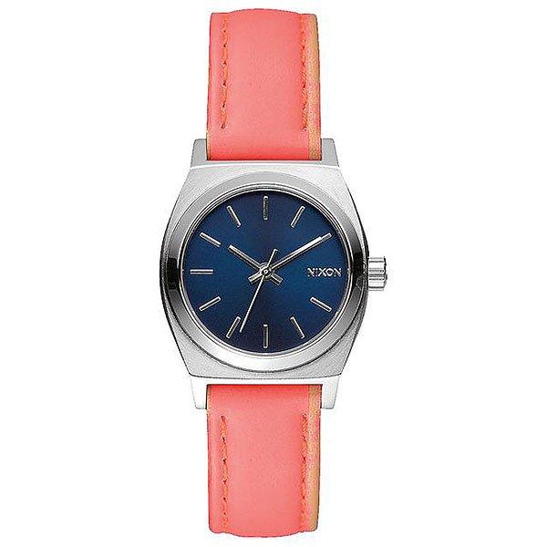 Кварцевые часы женские Nixon Small Time Teller Bright Coral