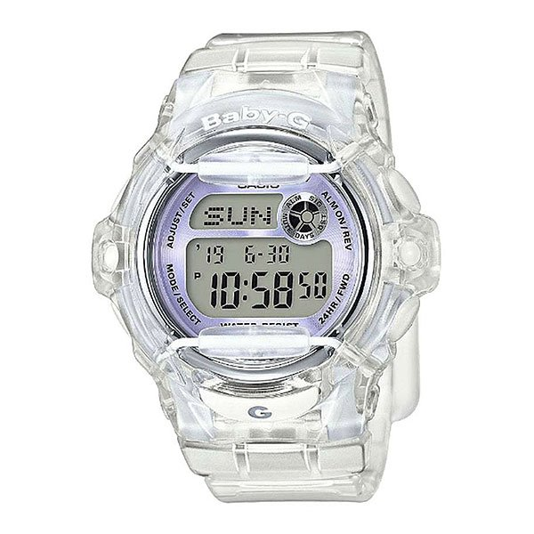 Электронные часы женский Casio Baby-g Bg-169r-7eПритягивающий дизайн часов Casio Baby-G BG-169R-1E превратил эту модель в одну из популярнейших среди девушек. Casio Baby-G BG-169R-1E – очень стильные часы, у которых удобный браслет, а также пластиковый корпус. Обладательница данной модели может принимать водные процедуры, не снимая часы, так как описываемая модель имеет отличную степень водозащищенности.Характеристики:Электролюминесцентная подсветка. Благодаря электролюминесцентной панели, обеспечивающей освещение всего циферблата, облегчается считывание данных. Функция задержки отключения - подсветка горит еще несколько секунд после отпускания кнопки освещения. Мировое время. В данном режиме вы можете просмотреть местное время в некоторых основных городах и определенных регионах мира. Показания текущего времени в 30 городах (29 часовых зон). Секундомер. Точное измерение истекшего времени касанием кнопки. Секундомер позволяет регистрировать отдельные отрезки времени, время с промежуточным результатом и время двойного финиша. Точность измерения 1/100 сек, запас измерения 24 часа. Таймер обратного отсчета. 25 сохраненных имен и телефонных номеров всегда под рукой благодаря встроенной базе данных. Каждая запись может включать в себя текст из 8 букв и 12 цифр. Автоматическая сортировка записей по алфавиту и отображение оставшейся памяти. Счётчик дней. Будильник. Ежечасный сигнал. Включение/выключение звука кнопок. Длительный срок службы батареи. Срок службы батареи - не менее 3 года. Полностью автоматический календарь. 12- и 24-часовой формат времени. Жесткое стекло, устойчивое к царапанию. Корпус из полимерного материала, безель из нержавеющей стали. Ремешок из полимерного материала. Ударопрочная конструкция защищает от ударов и вибрации.<br><br>Цвет: белый<br>Тип: Электронные часы<br>Возраст: Взрослый<br>Пол: Женский