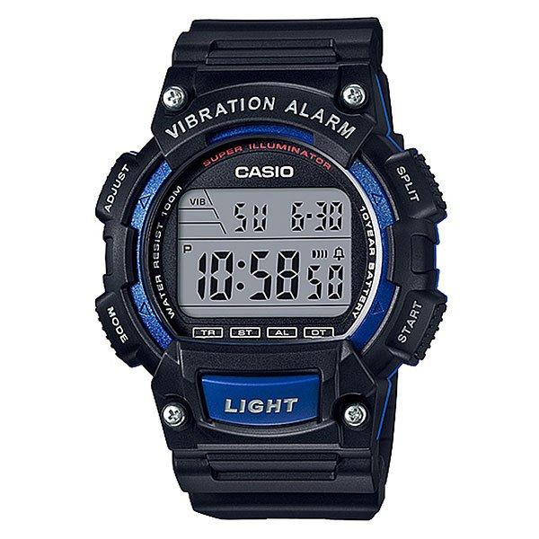 Электронные часы Casio Collection W-736h-2aВ июле 2016 японцы показали спортивную и недорогую сериюW-736. Часы так сразу не вызывают особенного восторга, ведь представлены в традиционном дляCasioбюджетном образе. Изучение внутренних возможностей новинки привело нас к функции вибробудильника, что довольно редкое явление.Характеристики:Точный кварцевый механизм. Точность хода не хуже -10 +15 сек./в месяц. Пластиковое стекло устойчивое к возникновению царапин. Корпус и браслет из пластика. Водозащита до 10 АТМ. Модель снабжена бесшумным вибрационным сигналом. Показания текущего времени во втором часовом поясе. Максимальное время измерения секундомера 24 часа, шаг измерения 1/100.Функции промежуточного финиша и суммарный результат. Таймер с функцией повтора сигнала - секундомер обратного отсчета, при окончании отсчета издается 10-ти секундный сигнал, после чего автоматически возобновляется отсчет установленного времени, если данная функция полностью не отключена. Максимальное время установки таймера 24 часа. Шаг отсчета 1 секунда, минимальный шаг установки 1 минута. Средний срок службы батарейки 10 лет. 12/24-х часовой формат времени. Пластиковое стекло имеет прочную сферическую форму.<br><br>Цвет: синий,черный<br>Тип: Электронные часы<br>Возраст: Взрослый