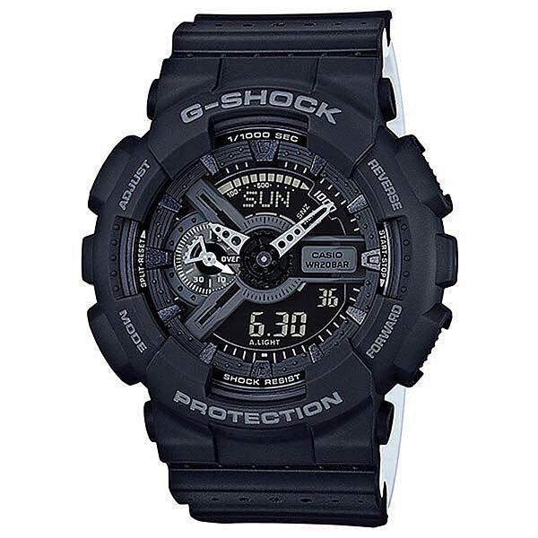 Электронные часы Casio G-shock Ga-110lp-1aЧасы наручные серии Casio G-Shock.G-Shock - ударопрочная конструкция защищает от ударов и вибрации. Характеристики:Кварцевые наручные часы.Экран: Стрелки + электроника. Корпус: Пластик. Ремешок: Резиновый (каучуковый). Стекло: Минеральное. Водозащита: 200м. Светодиодная автоподсветка.Будильник: 5 независимых будильников + возможность ежечасного сигнала + функция будильник с повтором через несколько минут. Секундомер с точностью до 1/1000 секунды. Таймер обратного отсчета с функцией повтора. Режим Мирового времени: Обеспечивает отображение текущего времени в некоторых городах и определенных регионах мира. Полностью автоматический календарь. 12- и 24-часовой формат времени.<br><br>Цвет: черный<br>Тип: Электронные часы<br>Возраст: Взрослый