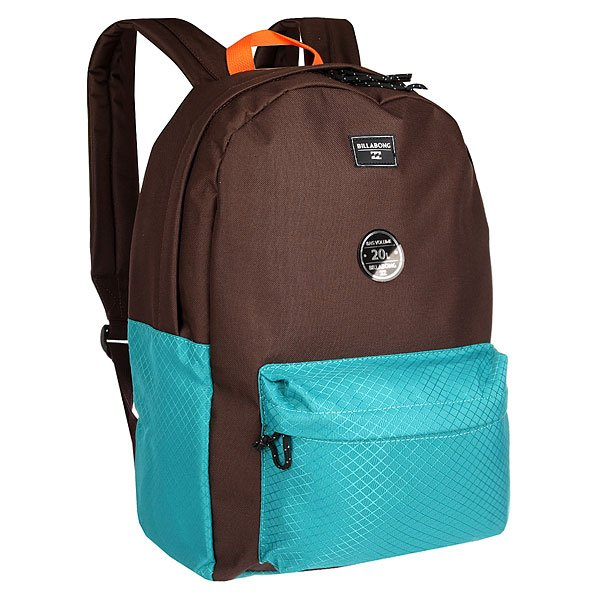 Рюкзак городской Billabong All Day ChocolateВозьми с собой все, что нужно! Этот классический рюкзак сочетает в себе утилитарный стиль и практичность в солидной цветовой гамме.Технические характеристики: Большое основное отделение на молнии.Передний карман на молнии.Регулируемые мягкие лямки.Ручка.Цветовое решение ColorBlock.<br><br>Цвет: коричневый,голубой<br>Тип: Рюкзак городской<br>Возраст: Взрослый