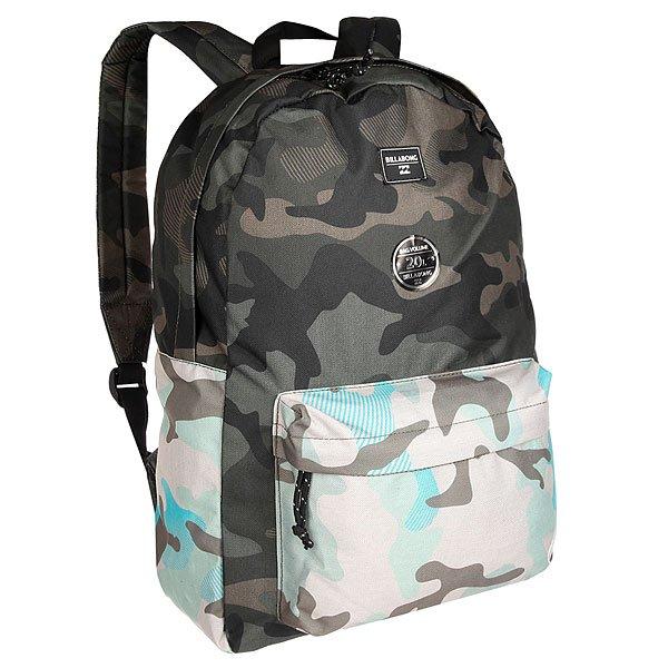 Рюкзак городской Billabong All Day FatigueВозьми с собой все, что нужно! Этот классический рюкзак сочетает в себе утилитарный стиль и практичность в солидной цветовой гамме.Технические характеристики: Большое основное отделение на молнии.Передний карман на молнии.Регулируемые мягкие лямки.Ручка.Сплошной принт.<br><br>Цвет: коричневый,зеленый,черный<br>Тип: Рюкзак городской<br>Возраст: Взрослый<br>Пол: Мужской