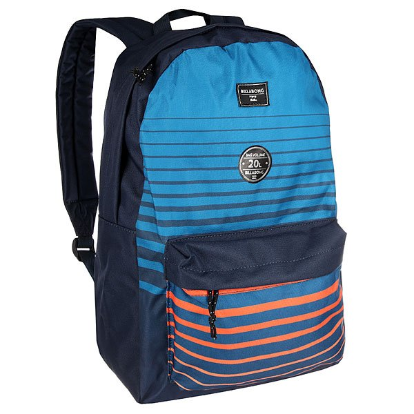 Рюкзак городской Billabong All Day StripesВозьми с собой все, что нужно! Этот классический рюкзак сочетает в себе утилитарный стиль и практичность в солидной цветовой гамме.Технические характеристики: Большое основное отделение на молнии.Передний карман на молнии.Регулируемые мягкие лямки.Ручка.Цветовое решение ColorBlock.<br><br>Цвет: синий,голубой,оранжевый<br>Тип: Рюкзак городской<br>Возраст: Взрослый<br>Пол: Мужской