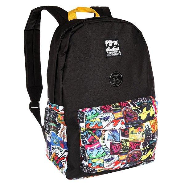 Рюкзак городской Billabong All Day MultiВозьми с собой все, что нужно! Этот классический рюкзак сочетает в себе утилитарный стиль и практичность в солидной цветовой гамме.Технические характеристики: Большое основное отделение на молнии.Передний карман на молнии.Регулируемые мягкие лямки.Ручка.Цветовое решение ColorBlock.<br><br>Цвет: черный,мультиколор<br>Тип: Рюкзак городской<br>Возраст: Взрослый<br>Пол: Мужской