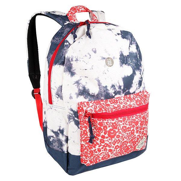 Рюкзак городской Billabong Study Blue TideШкольный рюкзак в свежем дизайне с уникальными принтами и цветовым решением.Технические характеристики: Прочный полиэстер 600D.Подкладка с принтом.Основное отделение и передний карман на молнии.Внутренний карман для ноутбука.Мягкие ремни с подкладкой из сетки.Ручка.<br><br>Цвет: синий,белый<br>Тип: Рюкзак городской<br>Возраст: Взрослый<br>Пол: Мужской