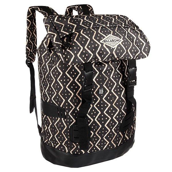 Рюкзак туристический женский Billabong Track Girl Off BlackПрочный и функциональный рюкзак для путешествий. Пакуйте все, что нужно в дороге и вперед на встречу приключениям!Технические характеристики: Специальный сплошной принт.Прочный полиэстер 600D и полиуретан.Подкладка с принтом.Основное отделение закрывается на регулируемый шнур и двойную пряжку.Мягкий карман для ноутбука с быстрым доступом.Внешний карман-клапан на молнии.Внутренние карманы.Подвесы для крепления дополнительного груза.Мягкие ремни с регулировкой.Ручка.<br><br>Цвет: черный,бежевый<br>Тип: Рюкзак туристический<br>Возраст: Взрослый<br>Пол: Женский