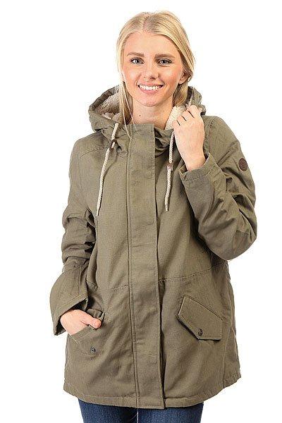 Куртка зимняя женская Billabong Iti MossУдлиненная женская куртка с теплой подкладкой из искусственного меха для насыщенной городской жизни и путешествий!Технические характеристики: Теплая подкладка из искусственного меха, включая капюшон.Фиксированный капюшон на шнурках.Нагрудные карманы и карманы для рук.Застежка на молнии с ветрозащитным клапаном.Кожаная нашивка на рукаве с логотипом Billabong.<br><br>Цвет: зеленый<br>Тип: Куртка зимняя<br>Возраст: Взрослый<br>Пол: Женский