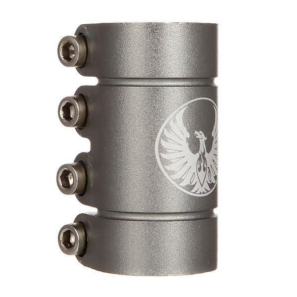 Зажимы Phoenix Smooth Scs Clamp GunmetalСамые горячие зажимы от Phoenix - гладкие зажимы в свежих цветах.Технические характеристики: Компрессия SCS для стандартных и негабаритных рулей.Шестигранные болты M8.Алюминиевый сплав 6061.Вес - 420 гр.<br><br>Цвет: серый<br>Тип: Зажимы