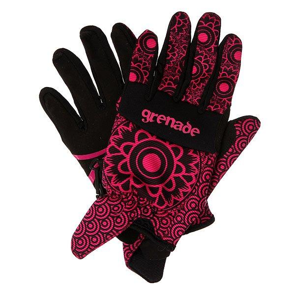 Перчатки сноубордические женские Grenade Henna Pink<br><br>Цвет: черный,розовый<br>Тип: Перчатки сноубордические<br>Возраст: Взрослый<br>Пол: Женский