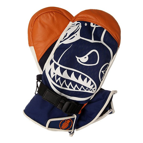 Варежки сноубордические Grenade Promodel Mitt Vito Orange<br><br>Цвет: синий,оранжевый,белый<br>Тип: Варежки сноубордические<br>Возраст: Взрослый<br>Пол: Мужской