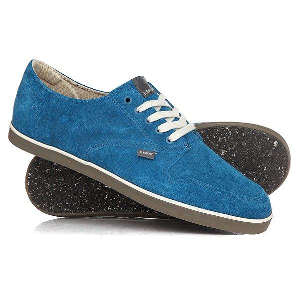 Кеды кроссовки низкие Element Topaz Suede Blue<br><br>Цвет: синий<br>Тип: Кеды низкие<br>Возраст: Взрослый<br>Пол: Мужской