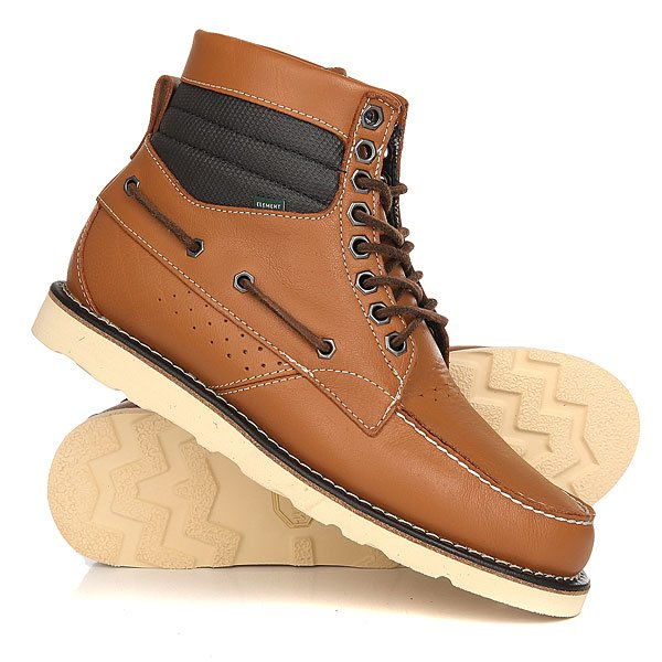 Ботинки высокие Element Hampton Boot Vibram CaramelМужские ботинки, созданные по мотивам скейтовой обуви, с таким же запасом прочности и комфорта. Прочный верх с оригинальным дизайном, удобная стелька и альпийская подошва Vibram удачно совмещают комфорт и практичность на любой местности.Технические характеристики: Дизайн, вдохновленный скейтовой обувью.Верх из кожи, обработанной воском.Круглые замшевые шнурки.Оригинальные шестигранные люверсы.Формованная стелька Ortholite.Подошва Vibram из очень прочной резины, обладает отличным сцеплением с поверхностью. Гарантирует максимальную поддержку и прочность.Перфорация для эффективного воздухообмена.<br><br>Цвет: коричневый<br>Тип: Ботинки высокие<br>Возраст: Взрослый<br>Пол: Мужской