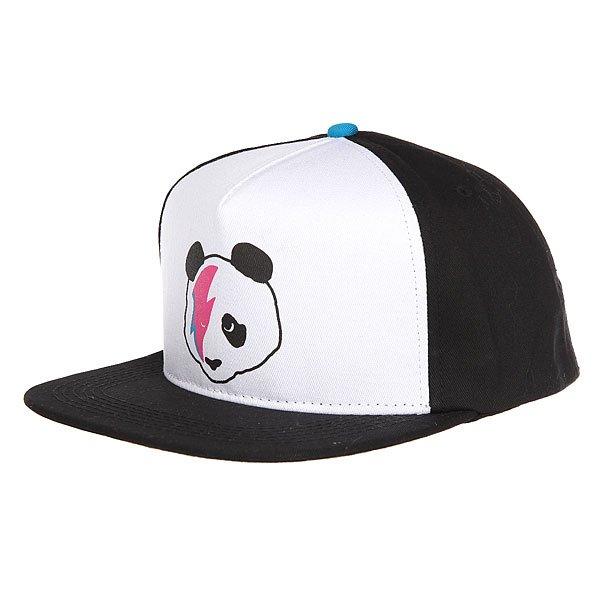 Бейсболка с прямым козырьком Enjoi Stardust Panda Trucker Cap Black/Blue<br><br>Цвет: черный,белый<br>Тип: Бейсболка с прямым козырьком<br>Возраст: Взрослый<br>Пол: Мужской
