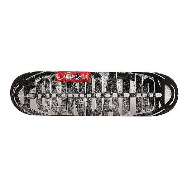 Дека для скейтборда для скейтборда Foundation Oval Zine Black/White 31.75 x 8.25 (21 см)Ширина деки: 8.25 (21 см)    Длина деки: 31.75 (80.6 см)    Количество слоев: 7<br><br>Цвет: белый,черный<br>Тип: Дека для скейтборда<br>Возраст: Взрослый<br>Пол: Мужской