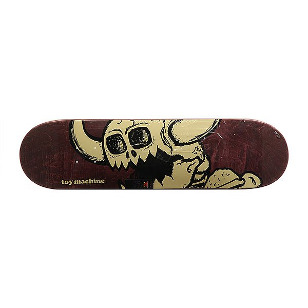 Дека для скейтборда для скейтборда Toy Machine Vice Dead Monster Burgundy/Beige 31.75 x 8.25 (21 см)