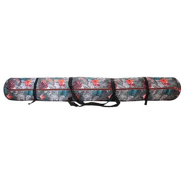 Чехол для сноуборда женский Roxy Ski Bag Hawaiian Tropik ParaЧехол для лыж Roxy Ski Bag имеет двойные ручки для удобной переноски и доступ внутрь по всей длине. Характеристики:Из прочного износостойкого полиэстера и имеет размер: 200 х 30 см. Длинная застежка-молния. Две ручки для переноски.Ремни-карабины для утяжки.<br><br>Цвет: серый,мультиколор<br>Тип: Чехол для сноуборда<br>Возраст: Взрослый<br>Пол: Женский
