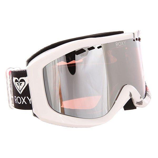 Маска для сноуборда женская Roxy Sunset Pack Windy Road True BlackЖенская сноубордическая маска Sunset с двойными цилиндрическими линзами.Технические характеристики: Двойные цилиндрические линзы с отверстиями для эффективной вентиляции.Оправа из полиуретана.Слой пены и флиса Polar для более плотного и комфортного прилегания.3D фильтр из сетки.100% защита от ультрафиолетовых лучей.Покрытие против запотевания Anti-fog.<br><br>Цвет: белый<br>Тип: Маска для сноуборда<br>Возраст: Взрослый<br>Пол: Женский