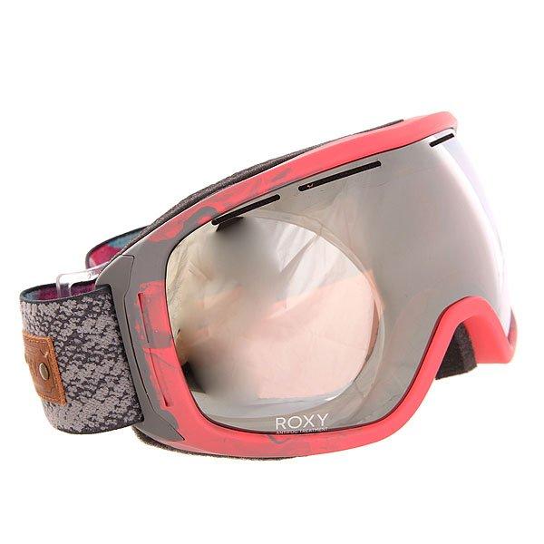Маска для сноуборда женская Roxy Rockferry Paradise Pink<br><br>Цвет: розовый,серый<br>Тип: Маска для сноуборда<br>Возраст: Взрослый<br>Пол: Женский