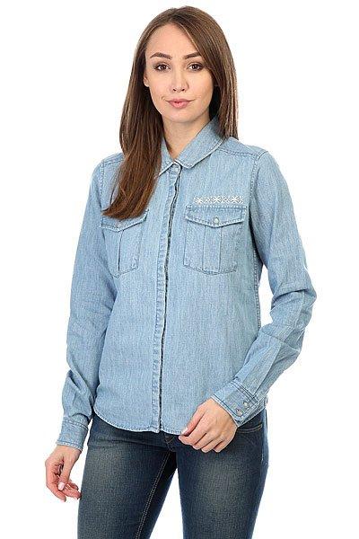 Рубашка женская Roxy Save Light Blue<br><br>Цвет: синий<br>Тип: Рубашка<br>Возраст: Взрослый<br>Пол: Женский