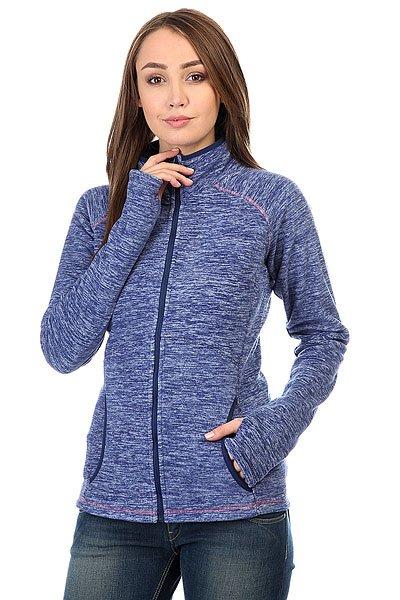 Толстовка сноубордическая женская Roxy Harmony Blue Print<br><br>Цвет: синий<br>Тип: Толстовка сноубордическая<br>Возраст: Взрослый<br>Пол: Женский