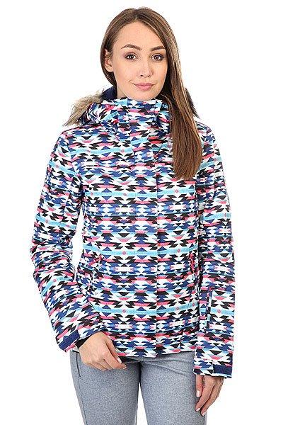 куртка женская roxy jet ski цвет синий erjtj03124 bfk9 размер s 42 Куртка женская Roxy Jet Ski Geofluo Blue Print