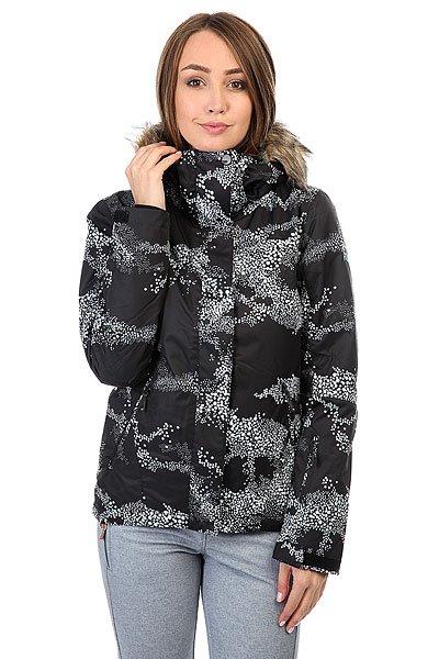 Куртка женская Roxy Jet Ski Cloudofdots True BlaПриталенная и уютная сноубордическая куртка со съемным мехом. Смелые и модные принты, переплетенные с технологичной мембраной DryFlight® 10К и утеплителем Warmflight® будут держать Вас в тепле в холодные зимние дни.Технические характеристики: Технологичная саржа из полиэстера.Утеплитель Warmflight® (тело 120 г, рукава 100 г, капюшон 60 г).Подкладка из тафты со вставками из трикотажа с начесом.Критические швы проклеены.Съемный капюшон.Съемная отделка на капюшоне из искусственного меха.Фиксированная снежная юбка из тафты с удобными кнопками.Система пристегивания куртки к штанам.Подкладка в районе подбородка.Внутренний медиа карман.Внутренний карман для маски.Брелок для ключей.Внутренние манжеты из лайкры.Карман для скипасса на рукаве.Карманы для рук с теплой подкладкой.Манжеты с регулировкой на липучках.Сеточная вентиляция на молнии.Подол на утяжке для защиты от ветра.Застежка на молнии с ветрозащитным клапаном на липучках.<br><br>Цвет: черный,белый<br>Тип: Куртка утепленная<br>Возраст: Взрослый<br>Пол: Женский