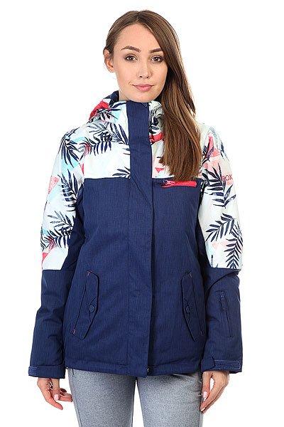 Куртка женская Roxy Rx Jetty Blo Botanik Bright WhiteЕсли Вы начинающий сноубордист и для собственной безопасности хотите быть заметной на склоне - куртка Roxy Jetty Block отлично справится с подобной задачей. Если Вы совершенствующийся сноубордист и, катаясь во фрирайде, Вам необходимо быть легко различимой среди елок и белого паудера - ещё раз, Roxy Jetty Block. Функциональна, продуманна и вряд ли уступит по стилю и яркости какой-либо другой модели. В перечне важных характеристик находятся утеплитель Warmflight®, подкладка из тафты, проклеенные критические швы, снегозащитная юбка, многочисленные карманы, включая карман для ски-пасса, и вентиляционные отверстия с сетчатой подкладкой. Тепло, комфорт и свобода действий в одной из лучших моделей сезона с ярким принтом от художницы Хэтти Стюарт.Характеристики:Влагостойкая ткань Dry Flight 10K.Утеплитель Warmflight®: 120 г тело / 100 г рукава / 60 г капюшон. Подкладка из тафты и трикотажа с начёсом. Стандартный крой. Проклеенные критические швы.Снегозащитная юбка. Система присоединения куртки к штанам.Регулируемый капюшон в 3-х направлениях. Мягкая подкладка в области шеи. Боковые карманы с теплой подкладкой. Нагрудный карман на молнии. Внутренний карман для маски.Медиа-карман. Карман для ски-пасса на молнии на рукаве. Регулируемые внешние манжеты на липучке. Манжеты из лайкры с отверстием для большого пальца.Вентиляционные отверстия с сетчатой подкладкой. Принт художницы мирового уровня Хэтти Стюарт.<br><br>Цвет: синий,белый<br>Тип: Куртка утепленная<br>Возраст: Взрослый<br>Пол: Женский