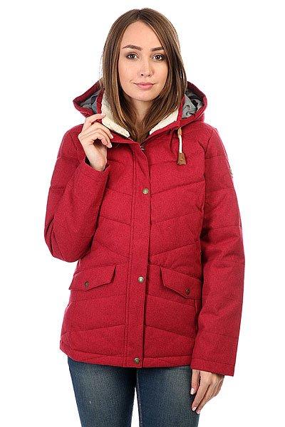 Куртка зимняя женская Roxy Nancy RhododendronТеплая куртка с наполнителемWarmflight®, обладающим свойствами пуха, но не требующим такого тщательного ухода. Универсальный крой позволит сочетать Roxy Nancy как со сноубутсами, так и с утепленными кедами, а приятная съемная подкладка ворота из шерпа-флиса не только добавит уюта, но и защитит от сильного промозглого ветра.Характеристики:Куртка средней длины. Съемный капюшон на шнурке. УтеплительWarmflight®, обладающий свойствами пуха (600 fill power, 380 г).Съемная подкладка из шерпа-флиса на воротнике. Два кармана для рук.<br><br>Цвет: бордовый<br>Тип: Куртка зимняя<br>Возраст: Взрослый<br>Пол: Женский