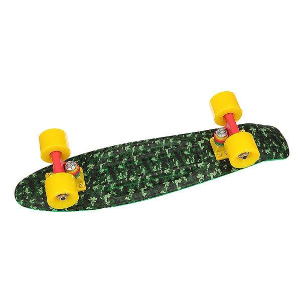 Скейт мини круизер Union Frog Pixels S Green/Multi 6 x 22.5 (57.2 см)