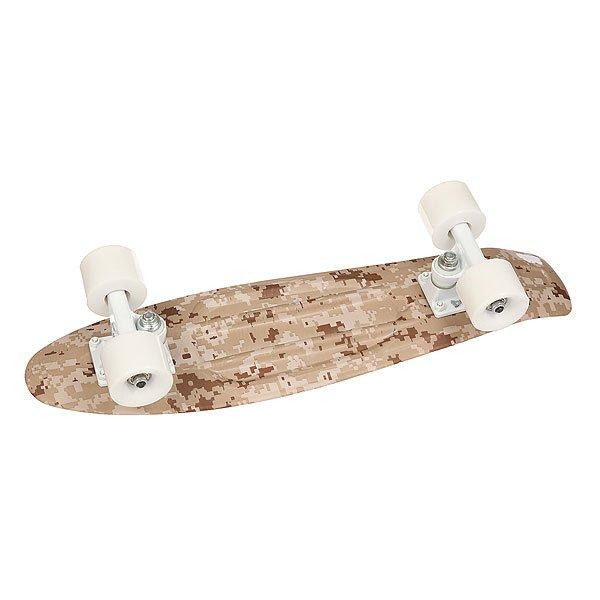 Скейт мини круизер Union Snow Pixels L White/Beige 6 x 22.5 (57.2 см)Уникальный круизер от Union для города или скейт парка. Гибкий круизер порадует Вас своим компактным размером и отличной управляемостью!Технические характеристики: Длина - 57,2 см, ширина - 15,3 см.Автомобилепрочный - отличается высокой гибкостью и прочностью, не сломается, даже если на него случайно наедет автомобиль!Большие мягкие колёса Вираж 59 мм 83А.Подвески ЮНИОН из прочного алюминиевого сплава.Скоростные подшипники ЮНИОН ABEC7.<br><br>Цвет: белый,бежевый<br>Тип: Скейт мини круизер