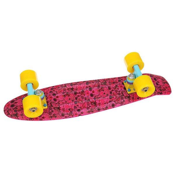 Скейт мини круизер Пластборд Neon Lips Skull Faces Pink/Multi 6 x 22.5 (57.2 см)Уникальный круизер от Union для города или скейт парка. Гибкий круизер порадует Вас своим компактным размером и отличной управляемостью!Технические характеристики: Длина - 57,2 см, ширина - 15,3 см.Автомобилепрочный - отличается высокой гибкостью и прочностью, не сломается, даже если на него случайно наедет автомобиль!Большие мягкие колёса Вираж 59 мм 83А.Подвески ЮНИОН из прочного алюминиевого сплава.Скоростные подшипники ЮНИОН ABEC7.<br><br>Цвет: розовый,мультиколор<br>Тип: Скейт мини круизер