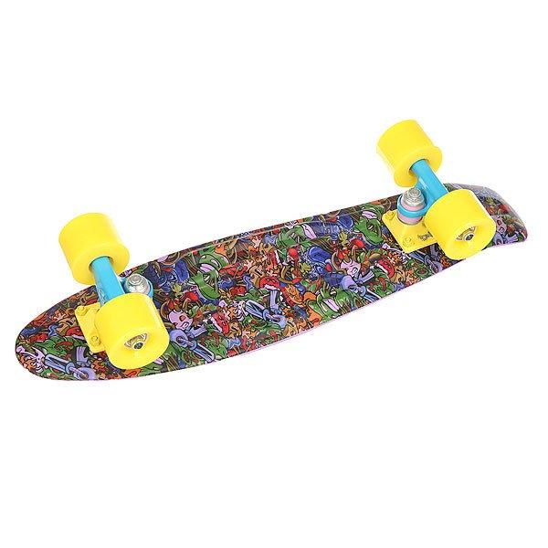 Скейт мини круизер Union Violet Toys Purple/Multi 6 x 22.5 (57.2 см)