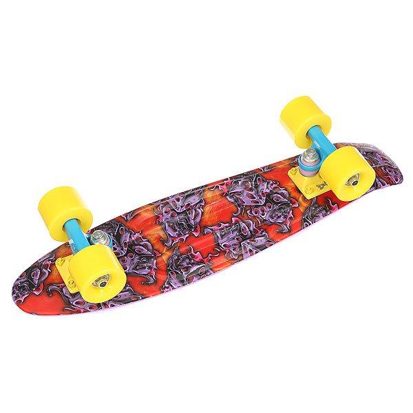 Скейт мини круизер Union Violet Fire Dice Purple/Multi 6 x 22.5 (57.2 см)Уникальный круизер от Union для города или скейт парка. Гибкий круизер порадует Вас своим компактным размером и отличной управляемостью!Технические характеристики: Длина - 57,2 см, ширина - 15,3 см.Автомобилепрочный - отличается высокой гибкостью и прочностью, не сломается, даже если на него случайно наедет автомобиль!Большие мягкие колёса Вираж 59 мм 83А.Подвески ЮНИОН из прочного алюминиевого сплава.Скоростные подшипники ЮНИОН ABEC7.<br><br>Цвет: мультиколор,фиолетовый<br>Тип: Скейт мини круизер