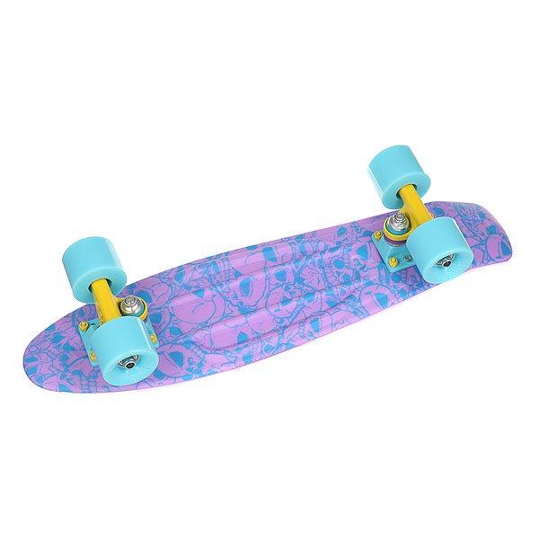 Скейт мини круизер Union Plum Skulls Purple/Light Blue 6 x 22.5 (57 см)<br><br>Цвет: фиолетовый,голубой<br>Тип: Скейт мини круизер