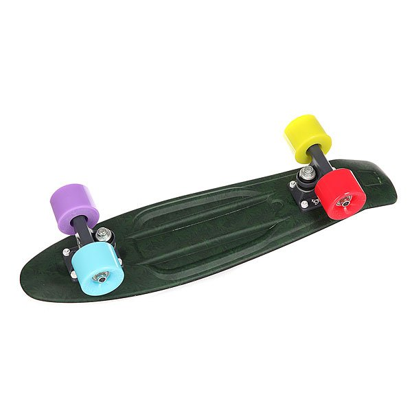 Скейт мини круизер Union Torse Ganjah Black/Green 6 x 22.5 (57 см)<br><br>Цвет: черный,зеленый<br>Тип: Скейт мини круизер