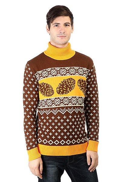 Свитер Запорожец Cone Brown/Yellow<br><br>Цвет: коричневый,оранжевый<br>Тип: Свитер<br>Возраст: Взрослый<br>Пол: Мужской