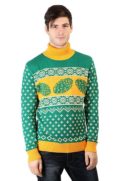 Свитер Запорожец Cone Green/Yellow<br><br>Цвет: зеленый,оранжевый<br>Тип: Свитер<br>Возраст: Взрослый<br>Пол: Мужской