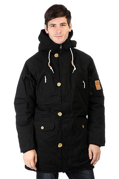 Куртка парка TrueSpin Cold City BlackТеплая куртка Cold из прочной хлопковой ткани с водоотталкивающей обработкой и утеплителем.Технические характеристики: Прочная хлопковая ткань.Водоотталкивающая обработка.Утеплитель - полиэстер 220 г.Теплая подкладка.Прямой крой.Фиксированный капюшон на шнурках.Нагрудные карманы и карманы для рук.Внутренние карманы и дополнительный карман на рукаве.Теплые трикотажные манжеты.Внутренняя регулировка талии.Застежка на молнии с ветрозащитным клапаном на пуговицах.<br><br>Цвет: черный<br>Тип: Куртка парка<br>Возраст: Взрослый<br>Пол: Мужской