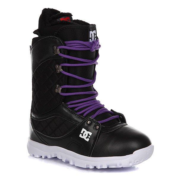 Ботинки для сноуборда женские DC Karma BlackDC Karma сочетают в себе ключевые особенности: комфорт конструкции и удобство традиционной системы шнуровки, позволяющей точно отрегулировать теплые и стильные ботинки, которые выглядят так же хорошо, как и сохраняют ценное тепло. Мягкая ворсистая флисовая отделка внутренника добавит комфорта, а демпфирующая удары стелька из вспененного материала EVA в сочетании с легкой подошвойUnilite™ защитит стопы от жестких приземлений. Характеристики:Традиционная шнуровка. Подошва из вспененного материалаUnilite™.Внутренник с ворсистой флисовой отделкой RED.Стелька из вспененного материала EVA Snow Basic. Пяточная петля. Нашивка с фирменным логотипом на язычке. Нанесенный сбоку фирменный логотип.Металлические крючки шнуровки.<br><br>Цвет: черный<br>Тип: Ботинки для сноуборда<br>Возраст: Взрослый<br>Пол: Женский