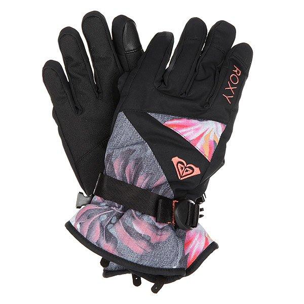 Перчатки сноубордические женские Roxy Jetty Gloves Hawaiian Tropik ParaСноубордические перчатки Jetty с утеплителем из новой коллекции Roxy.Технические характеристики: Технологичная саржа из полиэстера.Утеплитель 170 г.Мягкая трикотажная подкладка с начесом.Эластичные манжеты.Регулируемое запястье.Эластичный лиш.Вставка на большом пальце для протирки маски.Перчатки подходят для работы с сенсорными устройствами.<br><br>Цвет: черный,мультиколор<br>Тип: Перчатки сноубордические<br>Возраст: Взрослый<br>Пол: Женский