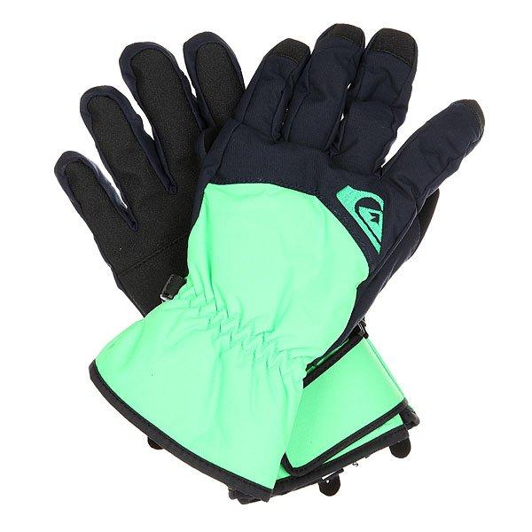 Перчатки сноубордические Quiksilver Cross Glove Andean ToucanМужские сноубордические перчатки с непромокаемым верхом и утеплителем Warmflight®, которые обеспечат Вам сухость, тепло и комфорт в течение всего дня на склоне. Полиуретановая вставка на ладони увеличит износостойкость и придаст цепкости при захвате грэбов, а замшевая панель на большом пальце поможет быстро и качественно протереть линзу маски или объектив камеры. Характеристики:Утеплитель Warmflight® 170 г. Предварительно формованная модель. Вставка для протирания маски на большом пальце. Регулируемые манжеты на липучках. Ладонь из полиуретанового кожзаменителя. Эластичный лиш.<br><br>Цвет: зеленый,черный<br>Тип: Перчатки сноубордические<br>Возраст: Взрослый<br>Пол: Мужской