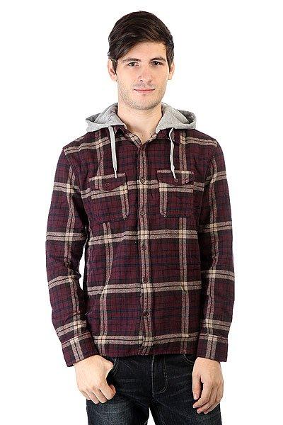 Рубашка в клетку DC Runnels Runnels Winetasting<br><br>Цвет: фиолетовый<br>Тип: Рубашка в клетку<br>Возраст: Взрослый<br>Пол: Мужской