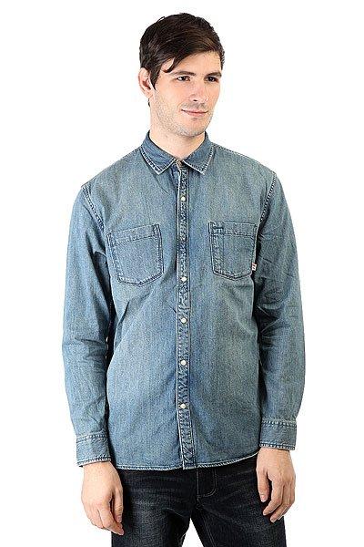 Рубашка Quiksilver Heat Melt Medium Blue<br><br>Цвет: синий<br>Тип: Рубашка<br>Возраст: Взрослый<br>Пол: Мужской