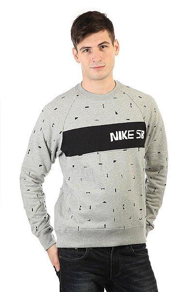 Толстовка классическая Nike SB Bluza X Ch Everett Grey<br><br>Цвет: серый,черный<br>Тип: Толстовка классическая<br>Возраст: Взрослый<br>Пол: Мужской
