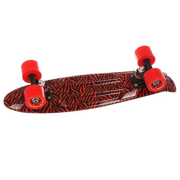 Скейт мини круизер Turbo-FB Cobweb Red/Black 6 x 22 (55.9 см)Пластиковый круизер TURBO-FB - это воплощение стараний ребят из одноименного Российского бренда, которые вот уже более 10 лет выпускают скейтборды и получается это у них, прямо скажем, отлично!  Данная модель круизера обладает целым рядом преимуществ: подшипники ABEC-7 позволят Вам ехать быстрее и дольше с одного толчка ногой, бушинги Thunder сделают управление легким и плавным, а качественная доска прослужит Вам не один сезон! Наслаждайтесь катанием вместе с TURBO-FB!Технические характеристики: Дека Turbo-Fb 56 см x 14.5 см.Подвески Turbo-Fb.Бушинги Thunder.Колеса Turbo-Fb 56 мм 85A.Подшипники Abec-7.Никелированные винты.Изделие не предназначено для трюков и рассчитано на массу до 80кг.<br><br>Цвет: черный,красный<br>Тип: Скейт мини круизер<br>Возраст: Взрослый<br>Пол: Мужской