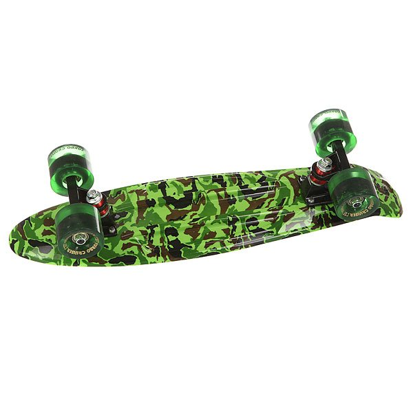 Скейт мини круизер Turbo-FB Camo Black/Green/Greeny 6 x 22 (55.9 см)