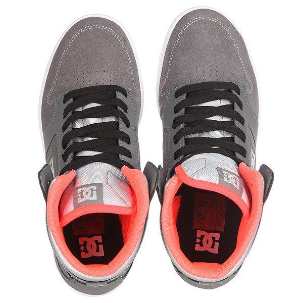 Кеды кроссовки высокие женские DC Argosy High Se Grey/Light Grey