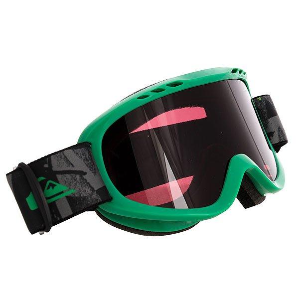 Маска для сноуборда детская Quiksilver Flake Goggle Labyrinth Snow FlameДетская сноубордическая маска с прочными цилиндрическими линзами 3 категории защиты от солнечного света.Технические характеристики: Устойчивые к воздействию цилиндрические линзы с фильтром 3 категории защиты от солнечного света (светопропускаемость от 8% до 18%).Оправа из полиуретана со встроенной вентиляцией.Эргономичная пена толщиной 10 мм для максимального комфорта.Ремень с регулировкой.Покрытие против запотевания Anti-fog.<br><br>Цвет: зеленый<br>Тип: Маска для сноуборда<br>Возраст: Детский